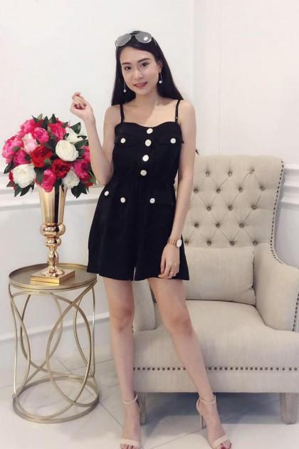 Chixxie Lexy Playsuit in Black