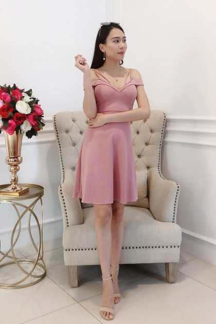 Chixxie Valeria Short Dress in Pink