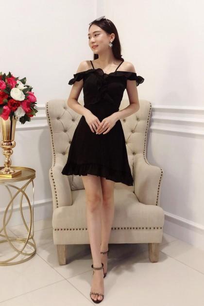 Chixxie Abigail Short Dress in Black