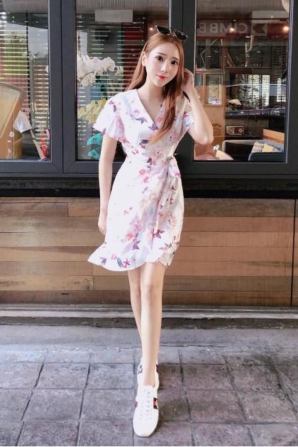 Chixxie Amber Dress in White