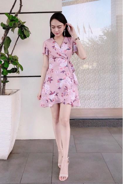 Chixxie Amber Dress in Pink