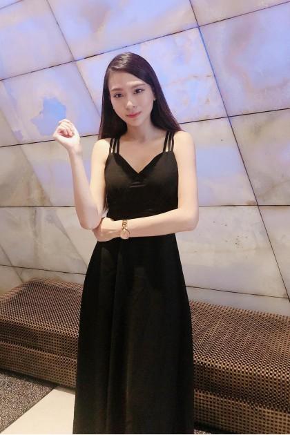 Chixxie Kimmy Maxi Dress in Black