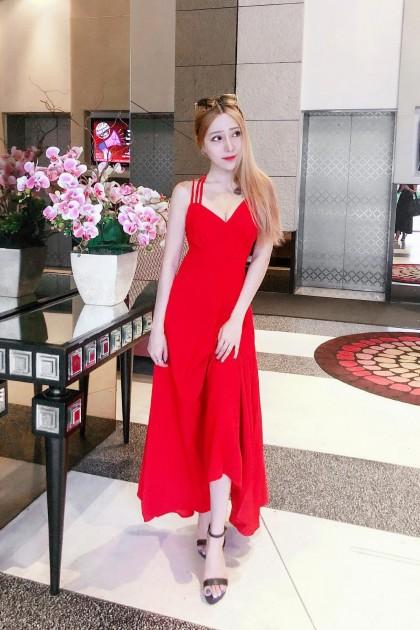 Chixxie Kimmy Maxi Dress in Red