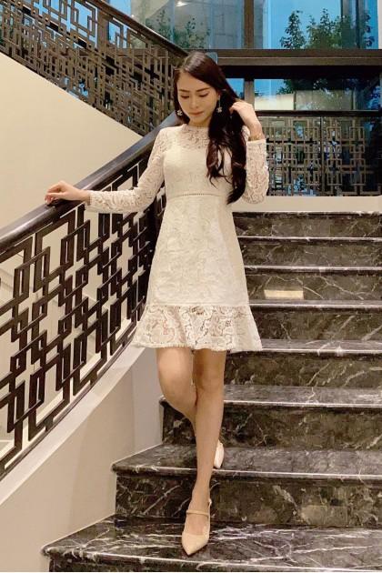 Chixxie Kayla Lace Dress in White
