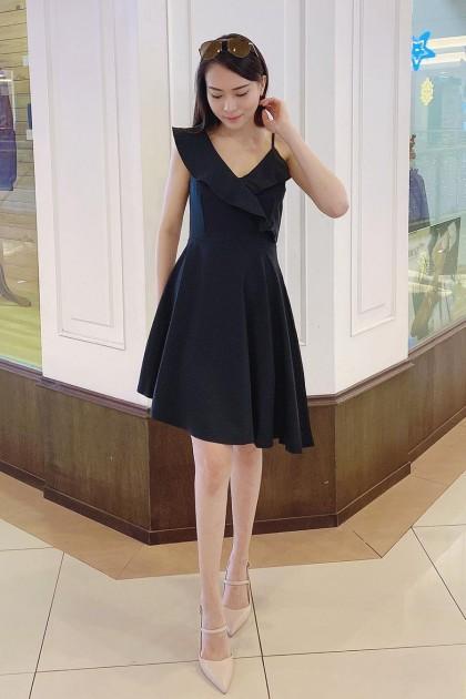 Chixxie Jane Dress in Black