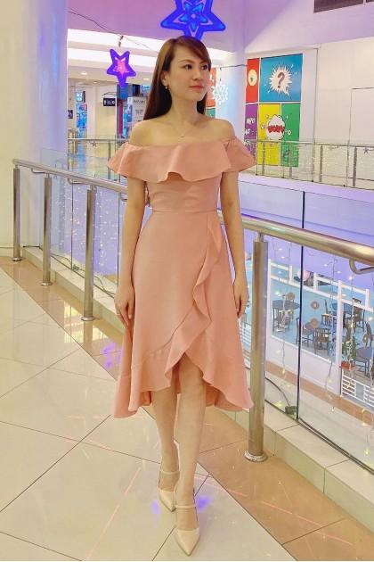 Chixxie Carina Dress in Pink