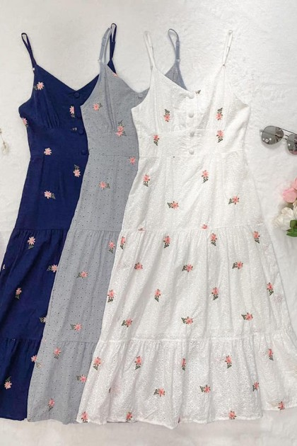 Chixxie Skye Dress in Pastel Blue