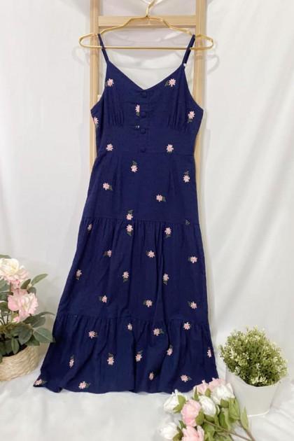 Chixxie Skye Dress in Navy