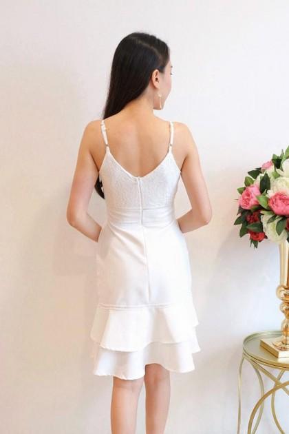 Chixxie Becca Dress in White