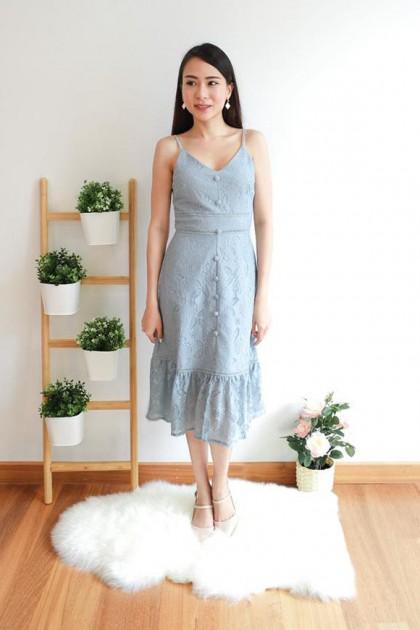 Chixxie Sherry Dress in Pastel Blue