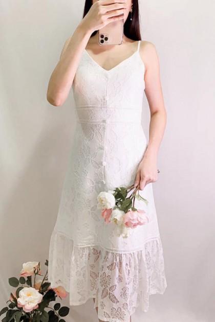 Chixxie Sherry Dress in White