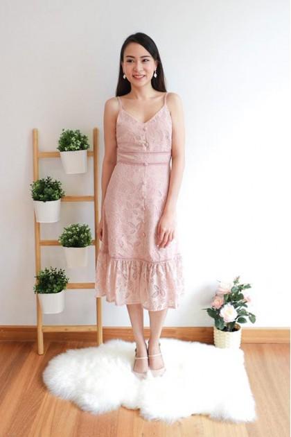Chixxie Sherry Dress in Pink