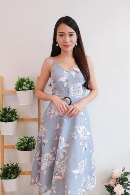 Chixxie Chrissy Dress in Pastel Blue