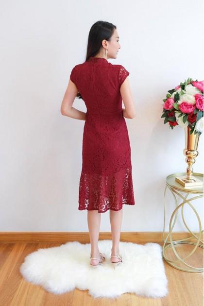 Chixxie Eileen Dress in Red