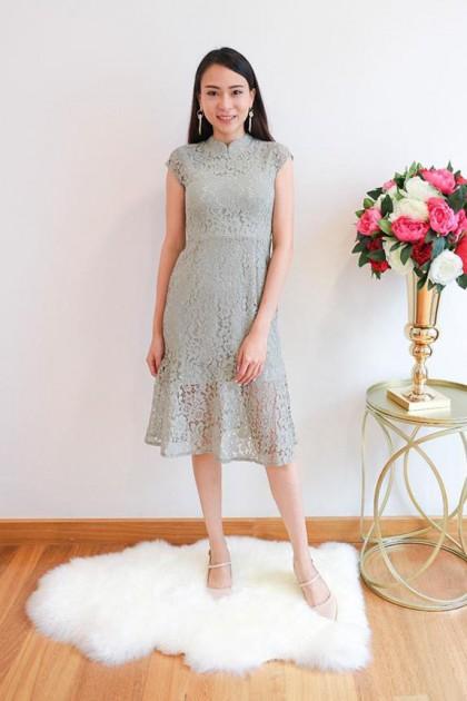 Chixxie Eileen Dress in Jade