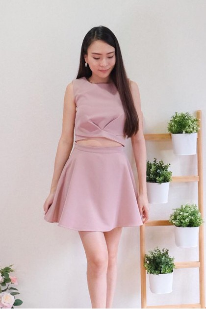 Chixxie Erica Two-Piece Set in Pink