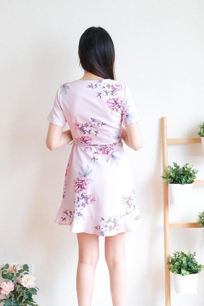 Chixxie Kelsey Wrap Dress in Pink