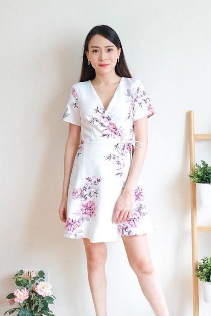 Chixxie Kelsey Wrap Dress in White