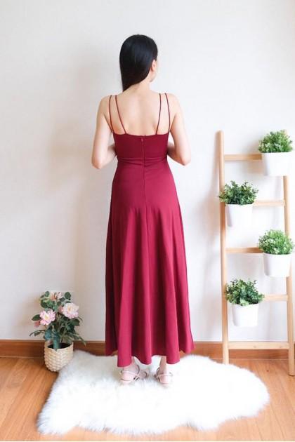Chixxie Ava Maxi Dress in Red