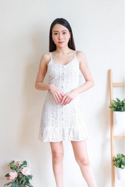 Chixxie Abby Lace Dress in White