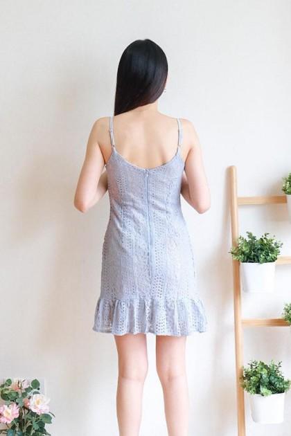 Chixxie Abby Lace Dress in Pastel Blue