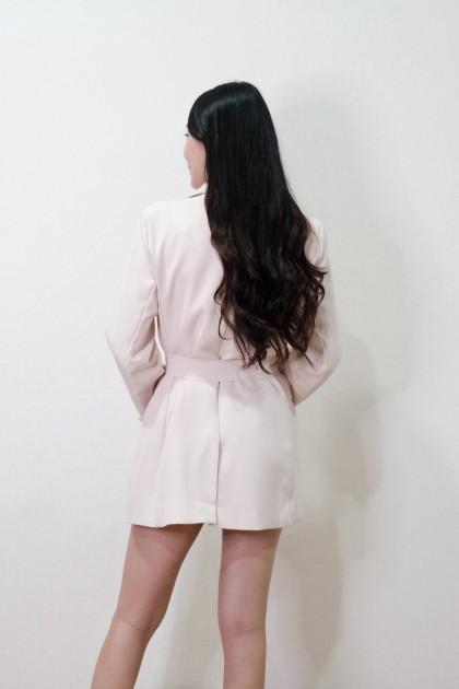 Chixxie Kendall Blazer in Cream