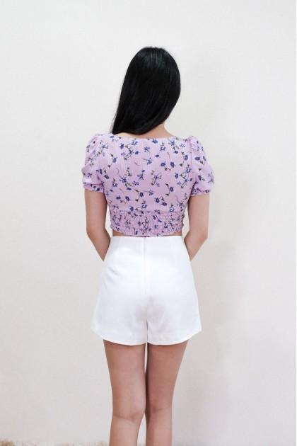 Chixxie Kiera Floral Crop Top in Purple