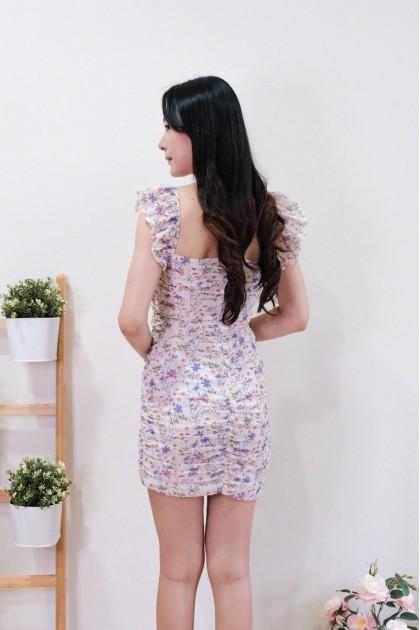 Chixxie Ivy Floral Ruffle Dress