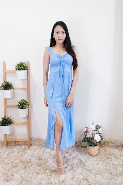 Chixxie Giana Ruffle Midi Dress