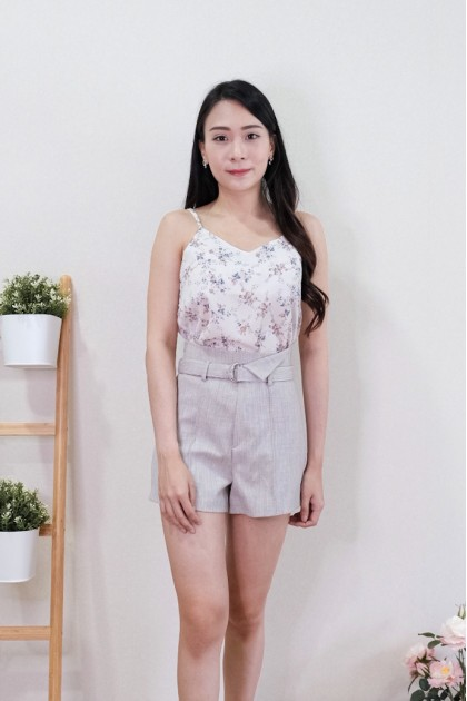 Chixxie Lindsey Floral Top in White