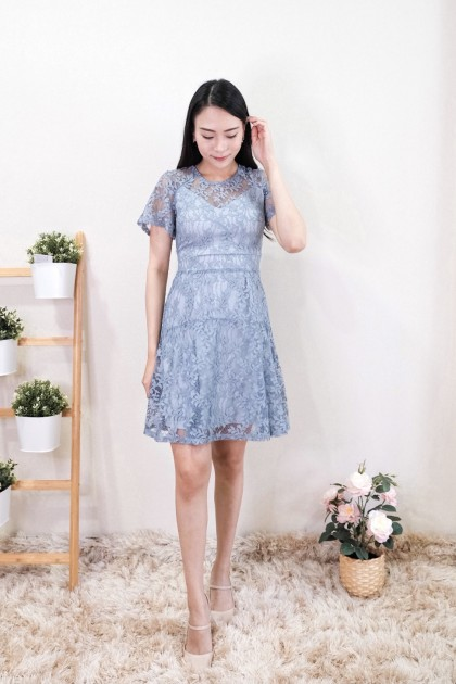 Chixxie Kimberly Lace Dress in Blue