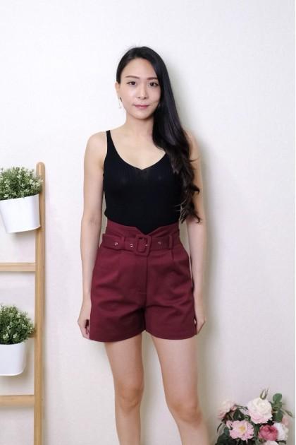 Chixxie Haisley Shorts in Maroon