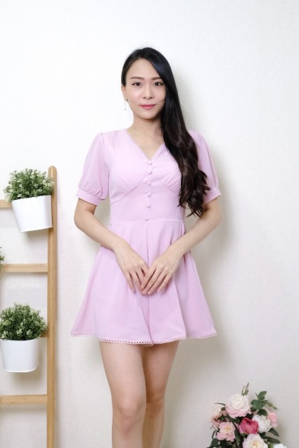Chixxie Celeste Baby Doll Playsuit in Pink