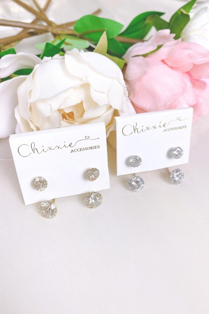 Double Diamante Wired Earring