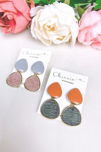 Colourful Stone Drop Earrings