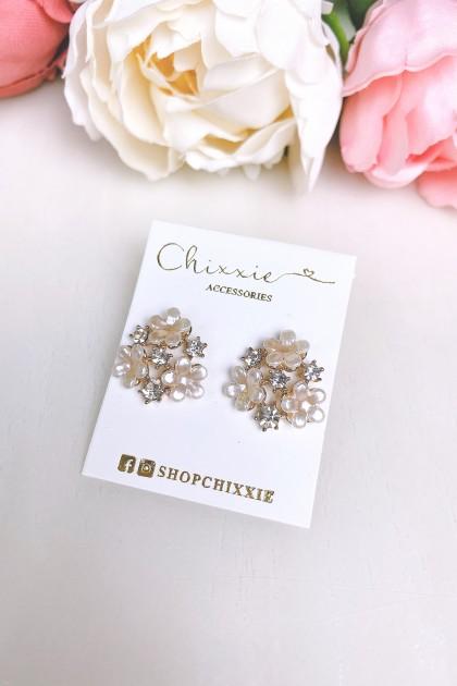 Floral Diamante Earrings