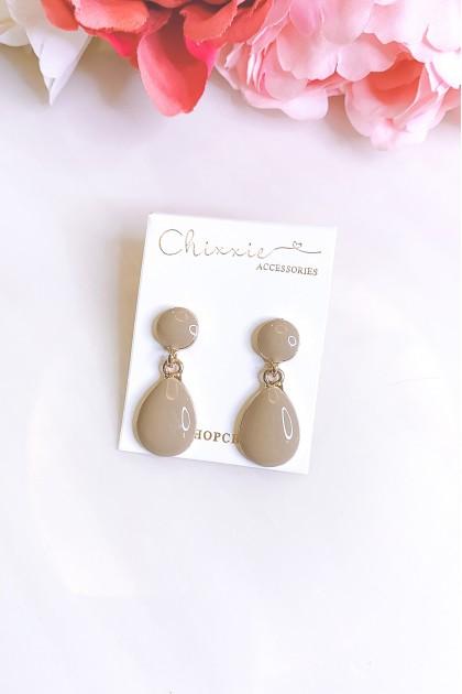 Tear Drop Ceramic Earrings