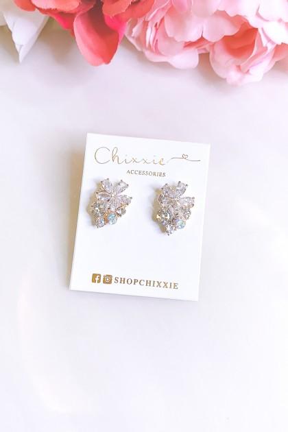 Flower Diamante Earrings