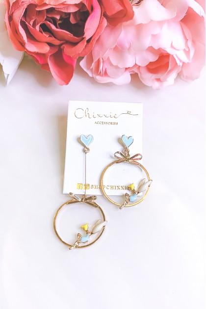 Gold Tinkerbell Drop Earrings