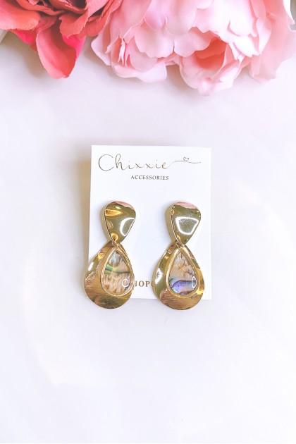 Gold Chrome Teardrop Earrings