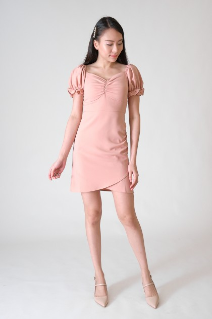 Chixxie Samantha Sweetheart Dress in Pink