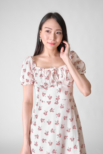 Chixxie Kendra Floral Dress in White