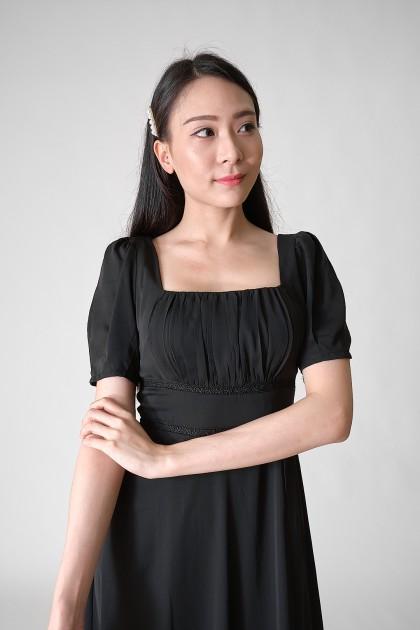 Chixxie Millie Midi Dress in Black