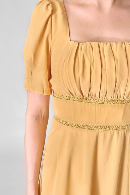 Chixxie Millie Midi Dress in Yellow